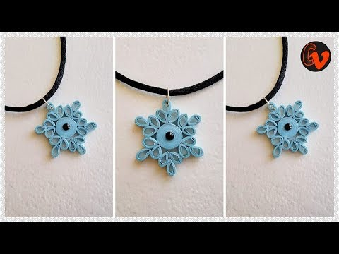How to Make Paper Quilling Pendant / Paper Jewellery Making / Quilling Pendant / DIY 16