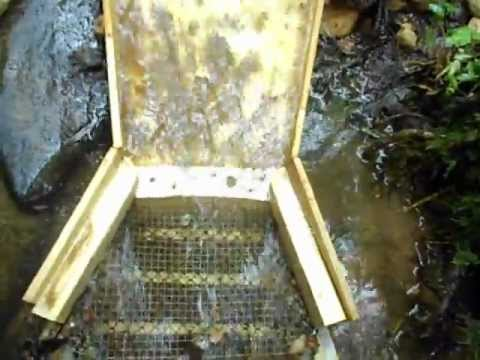 Testing my DIY Double Flared Fluid Bed Sluice in slow water