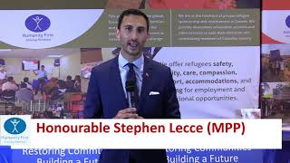 Ontario Minister of Education Stephen Lecce Supports Humanity First