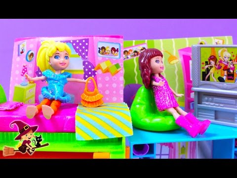 La Casa de Polly Pocket Armario de Purpurina Mágico