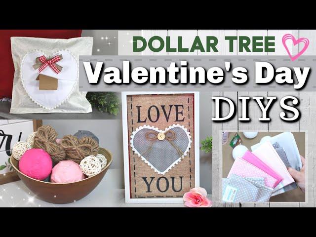 DIY Dollar Tree Valentine's Day Decor Ideas   DIY Valentines Day Decor   Krafts by Katelyn
