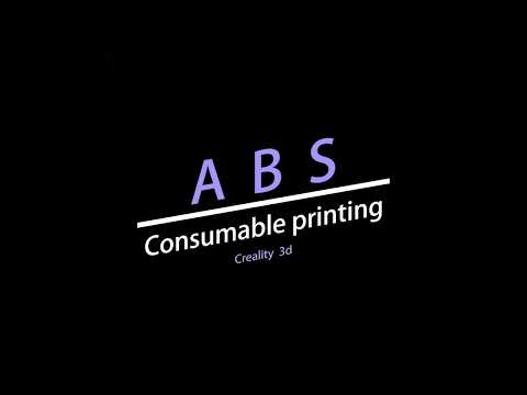 Creality ABS Introduction ABS Consumable Printing