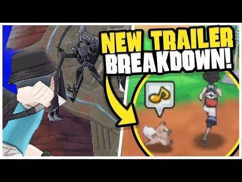 POKEMON FOLLOW YOU!! - NEW Ultra Sun/Moon Trailer BREAKDOWN!