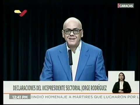 Jorge Rodríguez hace recuento a un año de autoproclamación de Juan Guaidó, 23 enero 2020
