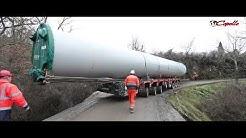 Impressionnant : Un convoi exceptionnel éolien by les Transports Capelle -