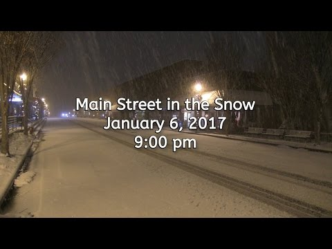 Main Street in the Snow (Franklin, NC)