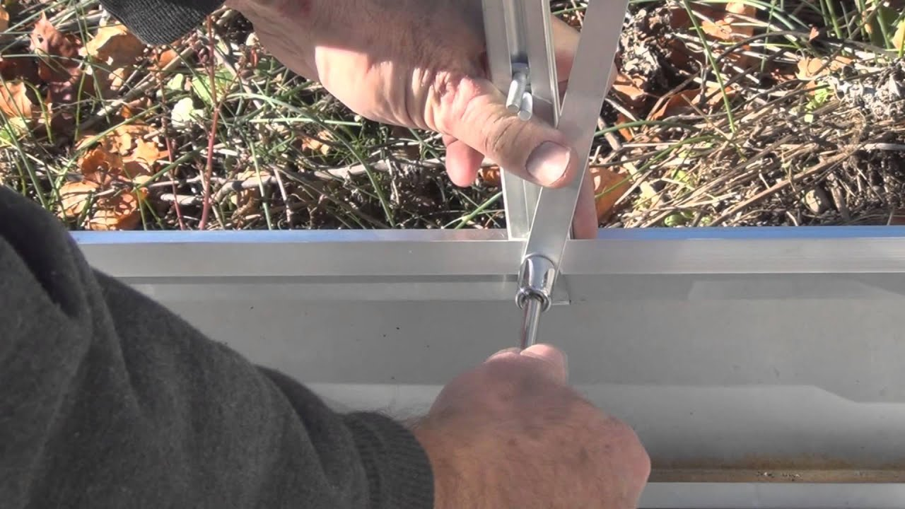 harbor freight greenhouse assembly part 3 youtube
