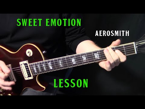 "How To Play ""Sweet Emotion"" On Guitar By Aerosmith - Rhythm Guitar Lesson"