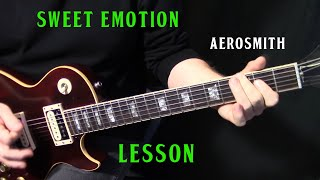 "how to play ""Sweet Emotion"" on guitar by Aerosmith - rhythm guitar lesson"