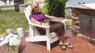 Exclusive! Polywood® Recycled Plastic Classic Reclining Adirondack Chair - Product Review Video