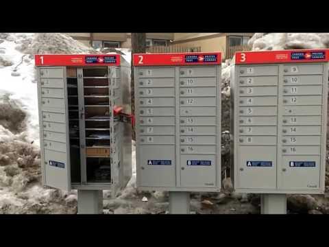 Ottawa Ontario Canada Post Community Mail Box Fail