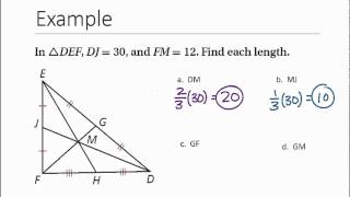 Geometry: Section 5.3- Medians & Altitudes of Triangles