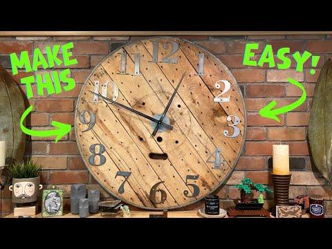 HUGE Reclaimed Wooden Clock!