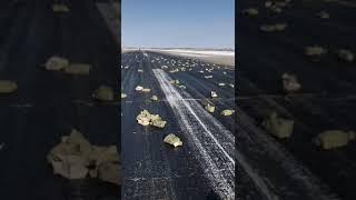 Ан-12 при взлете рассыпал золото