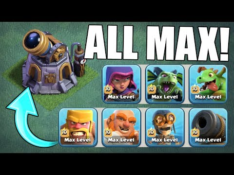 GEM TO MAX!! FINALLY ALL NEW MAX LEVEL TROOPS! - Clash Of Clans BUILDER VILLAGE!
