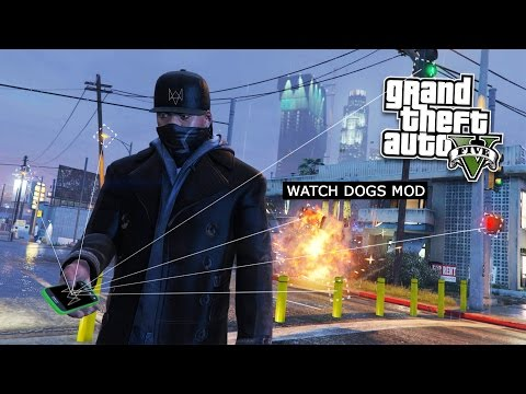 GTA 5 PC Mods - WATCH DOGS HACKING MOD! GTA 5 Watch Dogs Hac