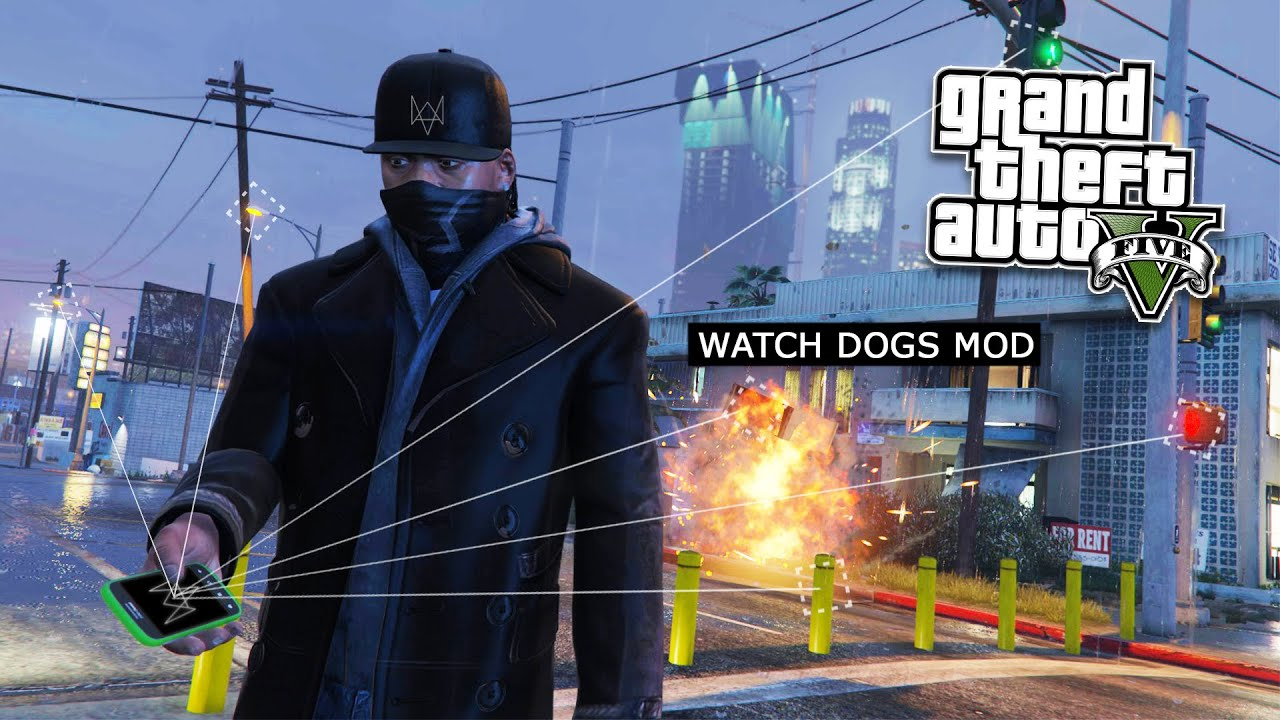 GTA 5 PC Mods - WATCH DOGS HACKING MOD! GTA 5 Watch Dogs Hacker Mod  Gameplay! (GTA 5 Mod Gameplay)