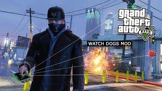 GTA 5 PC Mods - WATCH DOGS HACKING MOD! GTA 5 Watch Dogs Hacker Mod Gameplay! (GTA 5 Mod Gameplay)