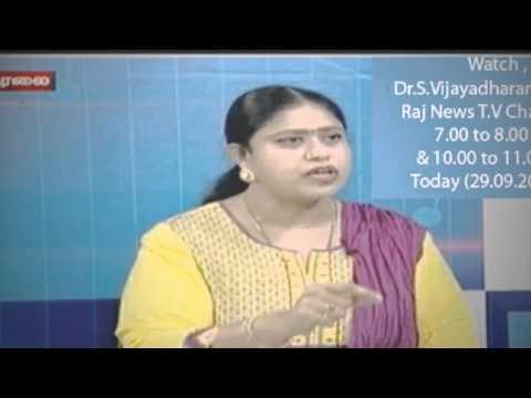 Vijayadharani MLA in TV debates.