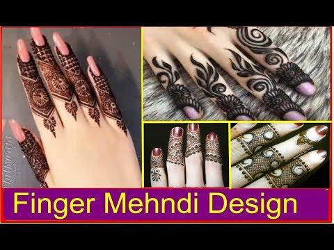 Latest Finger Mehendi Design For Girls & Women 2018   Our Glamor