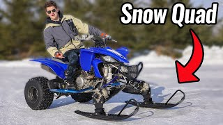 Quad with Snowmobile Ski's