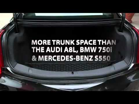 Cadillac Xts Trunk Space Youtube