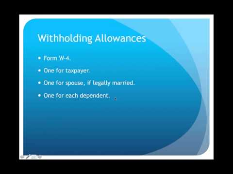 Income Tax Withholding Lecture