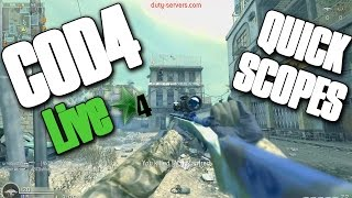 SNIPER ONLY... ALONE! (Cod4 Live)