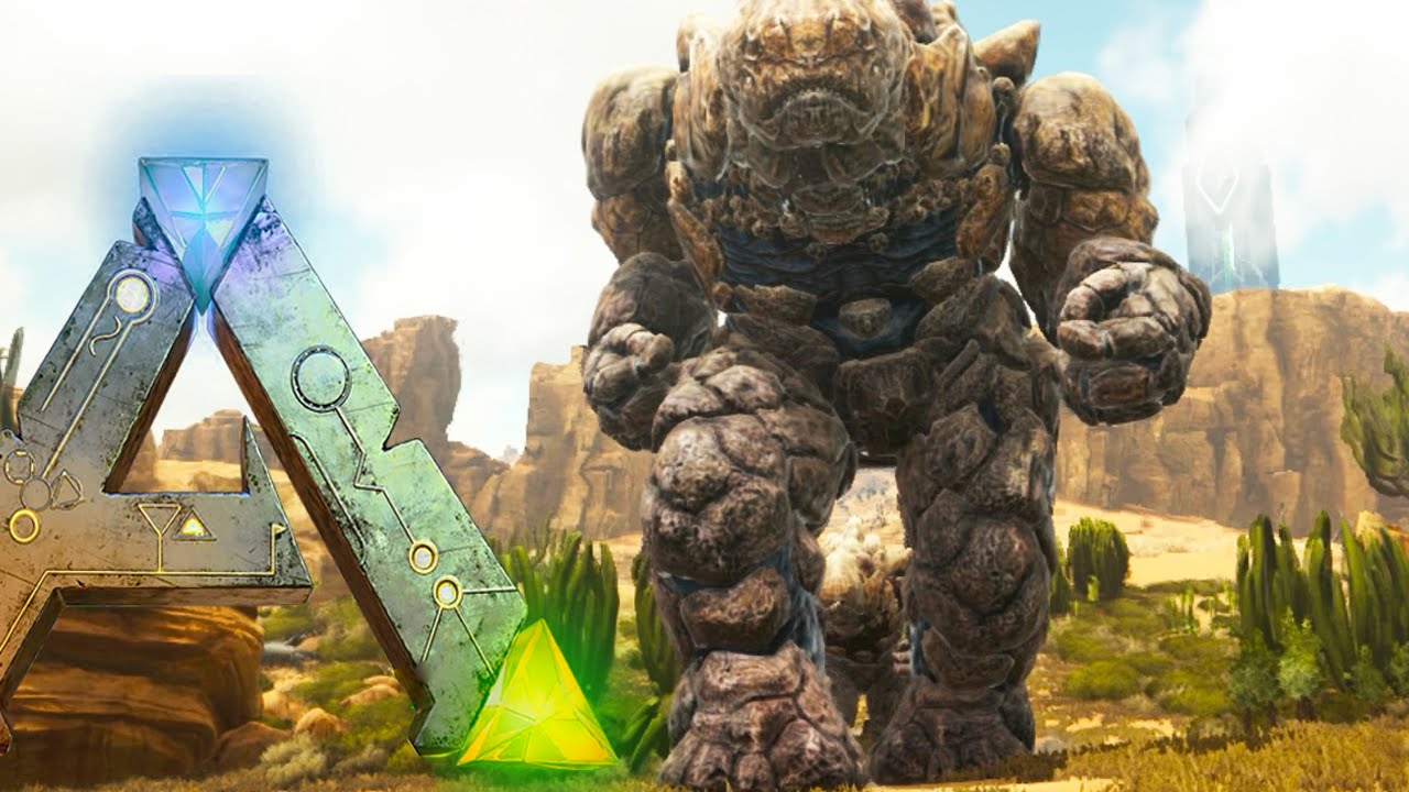 Ark Scorched Earth Chased By Everything Rock Elemental 1
