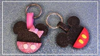 Llaveros de Mickey Mouse y Minnie Mouse en Goma eva | Llavero de Mickey Foami - Adornos con goma eva