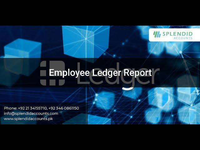 Employee Ledger Report    Splendid Accounts