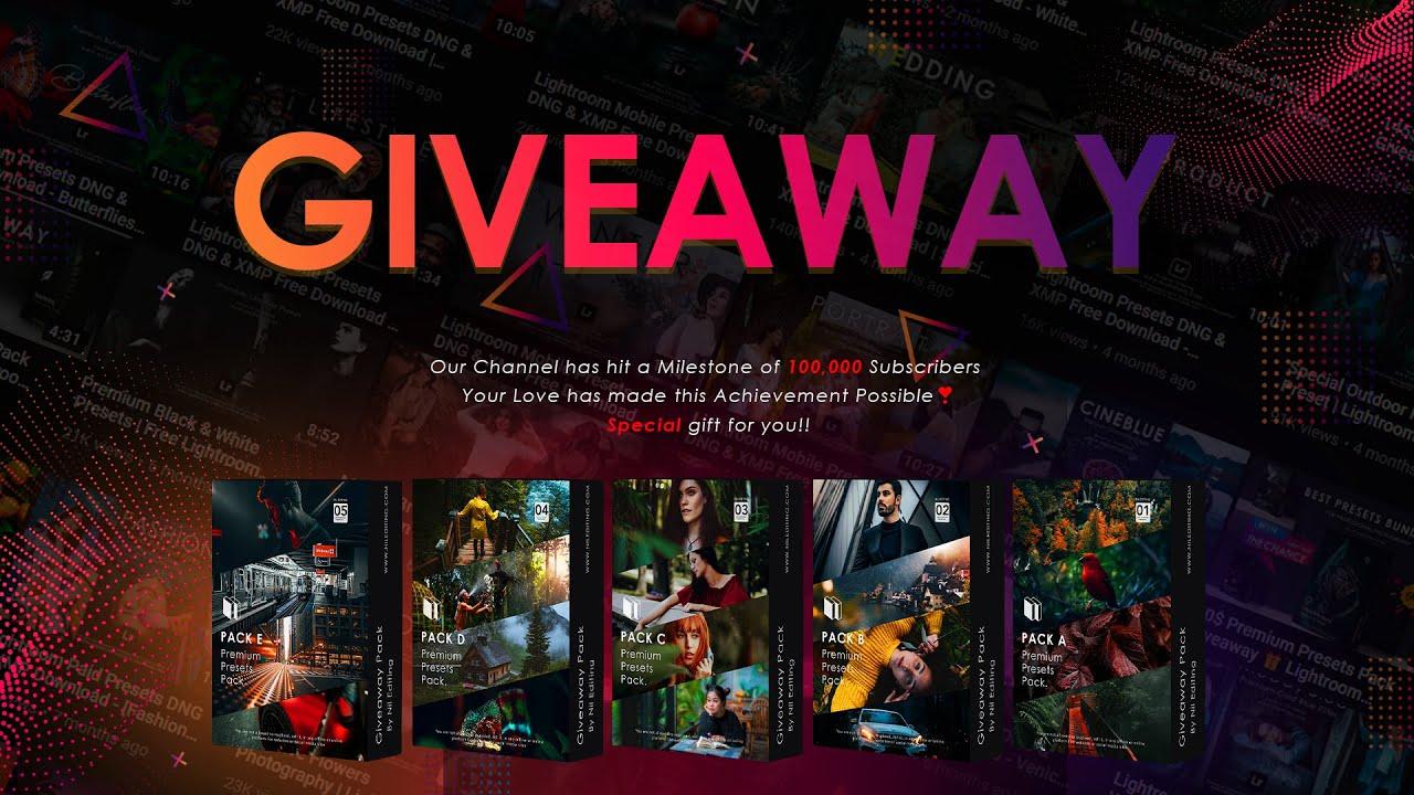🌟100K Special Giveaway - 300$ Lightroom Premium Presets Bundle Free Download