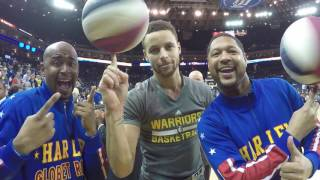 Teaching Steph Curry the Spin | Harlem Globetrotters