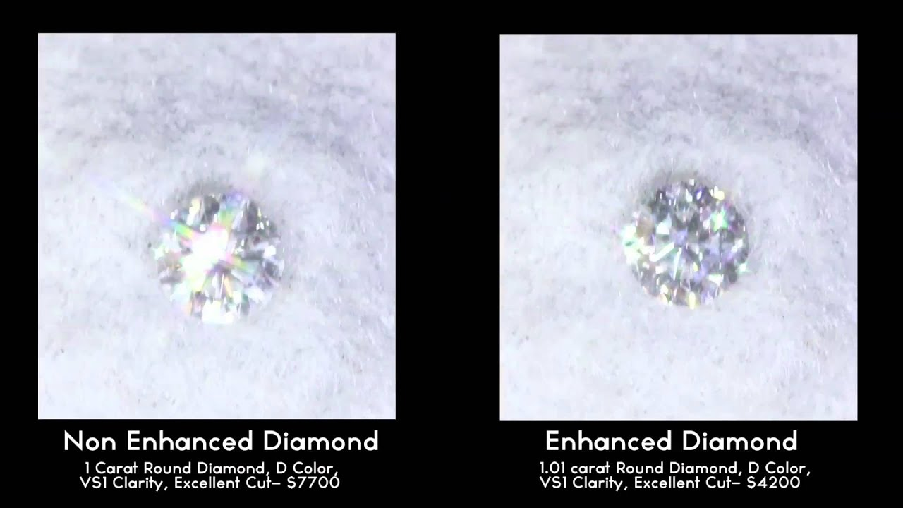 color non watch diamonds youtube enhanced vs natural diamond