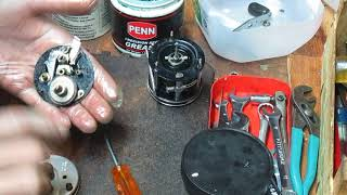 Abu Garcia 5500 round baitcaster reel service with drag washer replacement