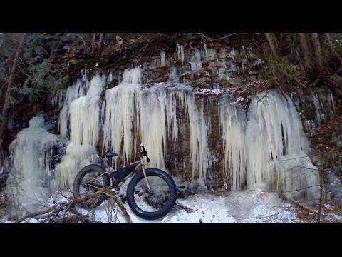 Fat Bike Ride Up The River. Surly Moonlander Fat Bike.