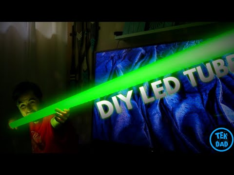 Do It Yourself (DIY) LED Smart RGB Tube Light - And Possible DIY Lightsaber Idea