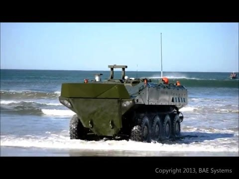 BAE Systems - SuperAV 8X8 Marine Personnel Carrier (MPC) Coastal Testing [720p]