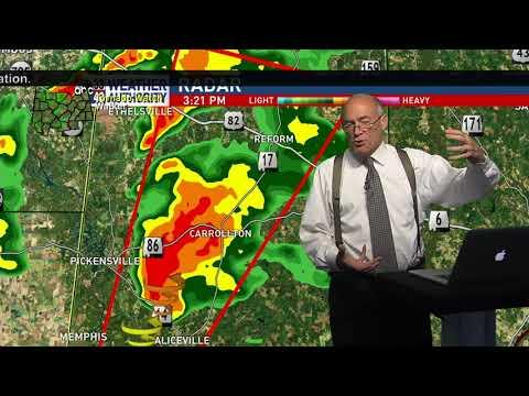 ABC 33/40 Tornado Coverage August 31, 2017