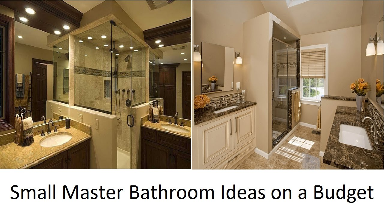 Super awesome small master bathroom ideas on a budget for Master bathroom on a budget