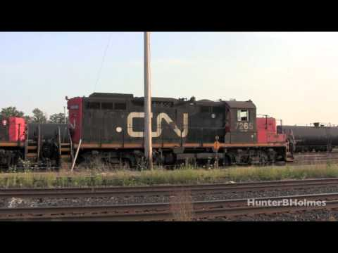 GP9RM and Slug Beltpack Operation - Sarnia [HD]