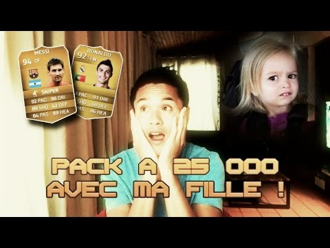FUT 15 - PACK OPENING AVEC MA FILLE !