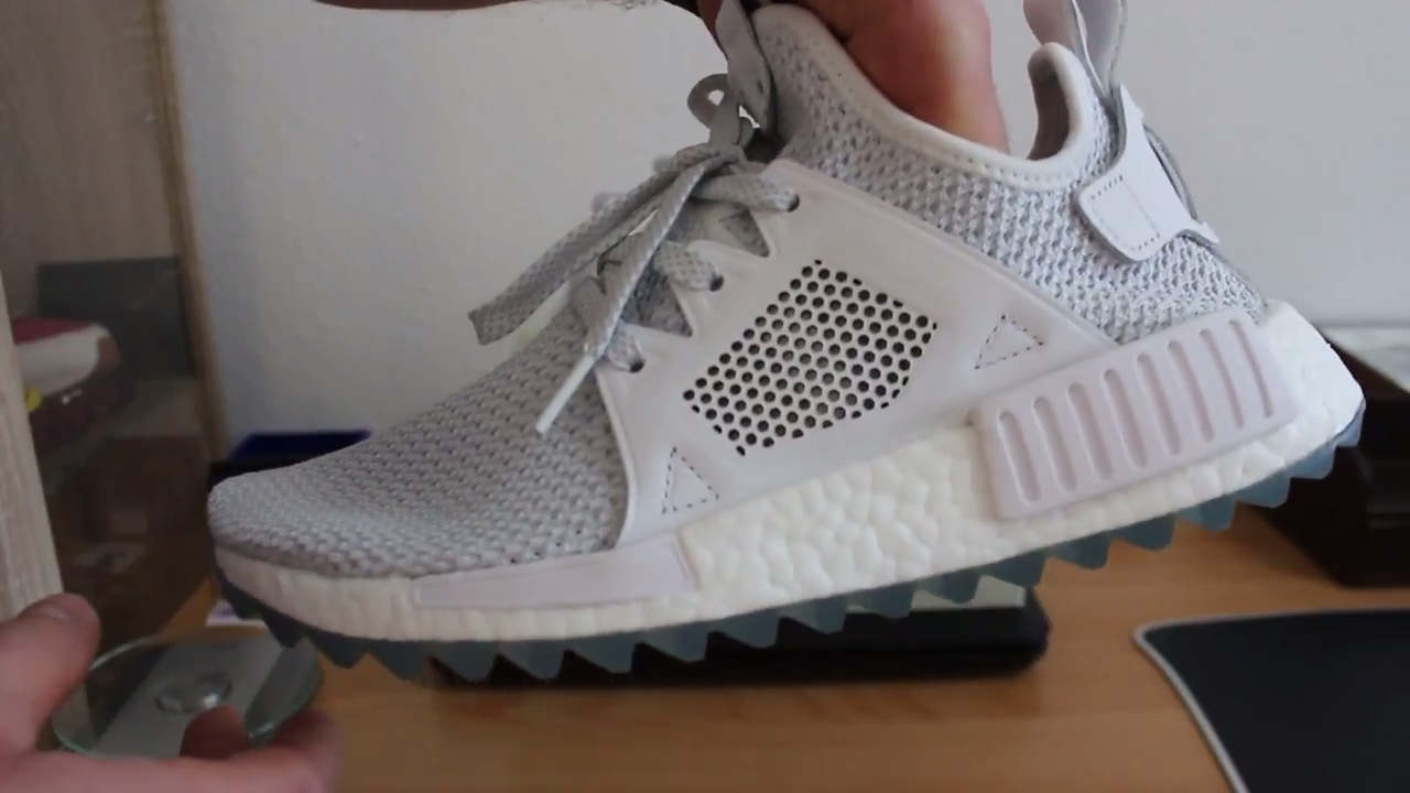 debcde48addc3 Snow White Adidas x Titolo NMD XR1 Ice Blue Primeknit Unboxing and Review