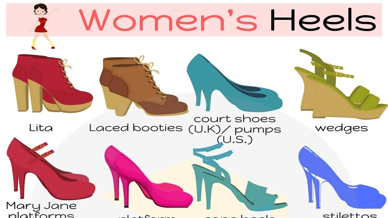 names of types of heels