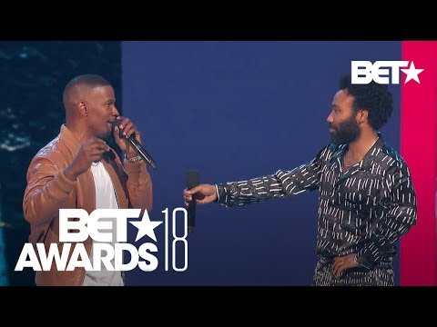 Donald Glover aka Childish Gambino Impromptu Performance of 'This Is America' | BET Awards 2018