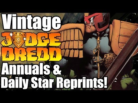 Judge Dredd Annuals And Daily Star Reprints - Zarjazz Thrills From The 1980's!!