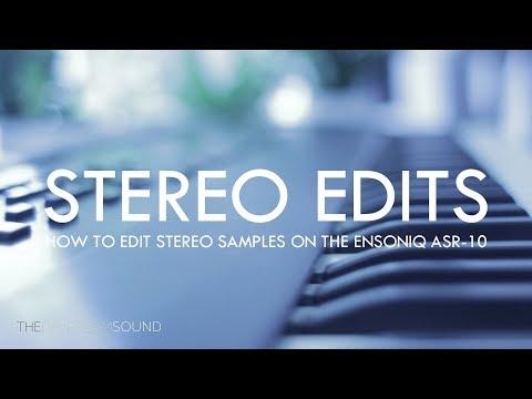 How to Edit Stereo Samples on Ensoniq ASR-10 Sampler - YouTube