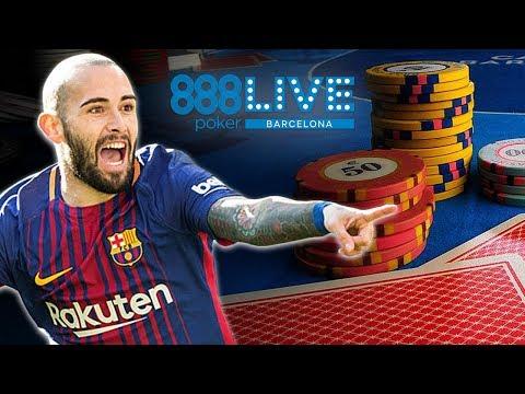 FC Barcelona Star TURNED Poker Pro?! (888poker LIVE Barcelona Main Event Day 2)