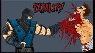 Repeat youtube video ALL Mortal Kombat Fatalitites From MK1 To MK9 HD