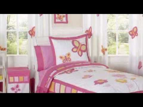 Butterfly Pink And Orange Childrens Bedding By Jojo Designs